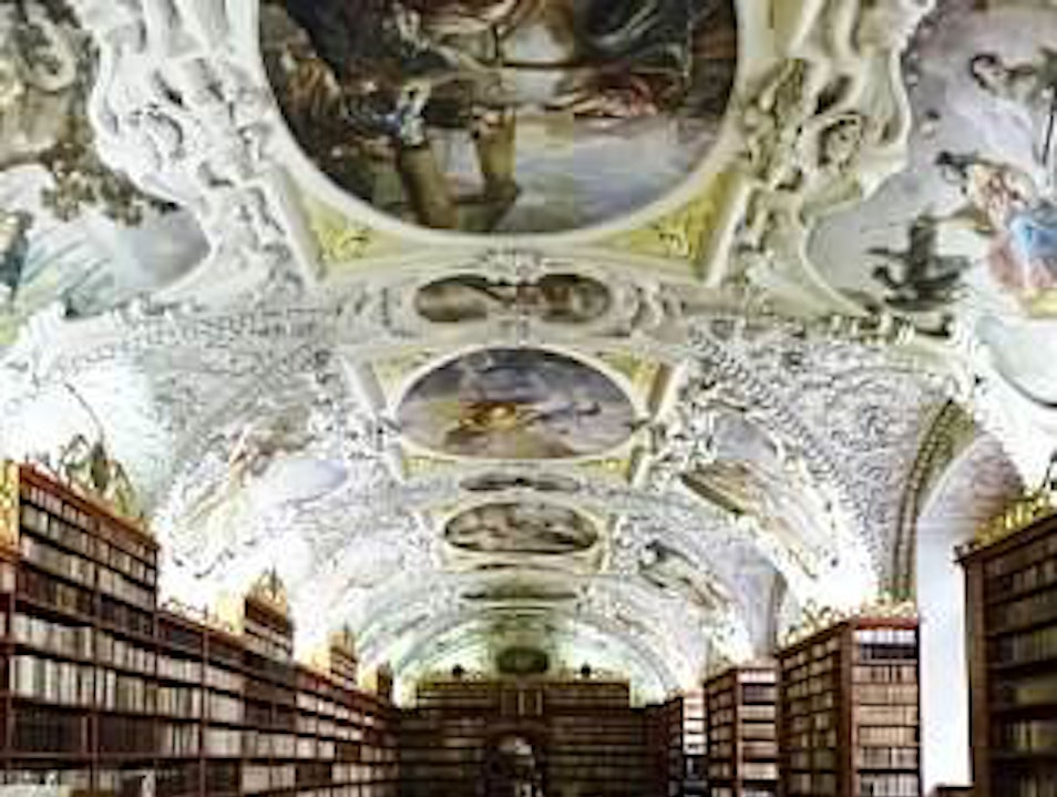 Has to be one of the most beautiful libraries in the world! Prague  Czech Republic