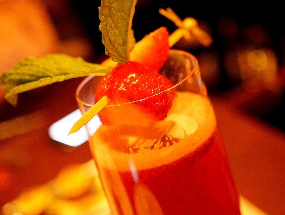Get in the mood with a champagne cocktail Las Vegas Nevada United States