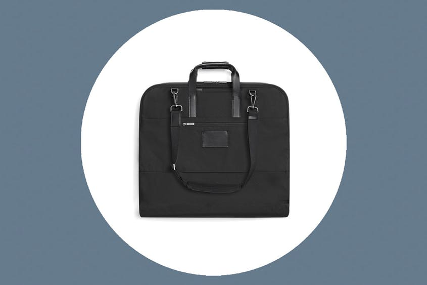 The Garment Bag can hold up to two suits and is available in Black and Navy.