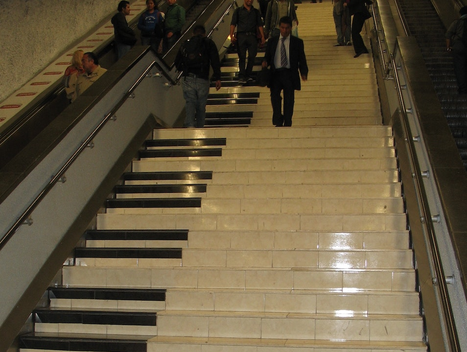 Musical Stairs Mexico City  Mexico