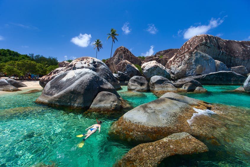 Swap your face mask for a snorkel mask in the BVI.