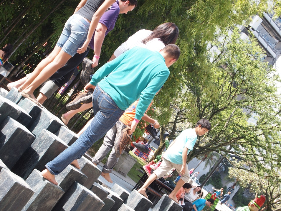 Free your feet at Parque de los pies descalzos Medellin  Colombia