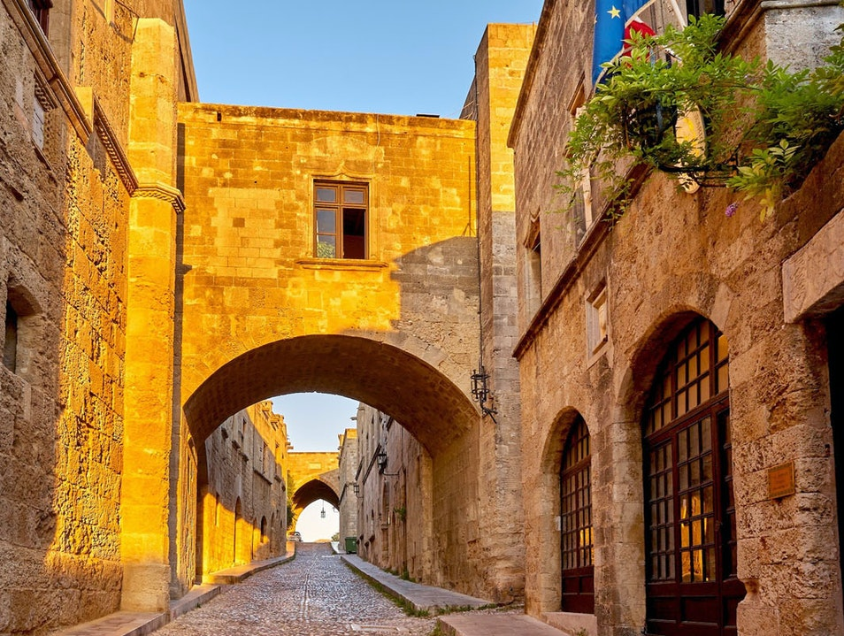 Street of the Knights Rhodes  Greece