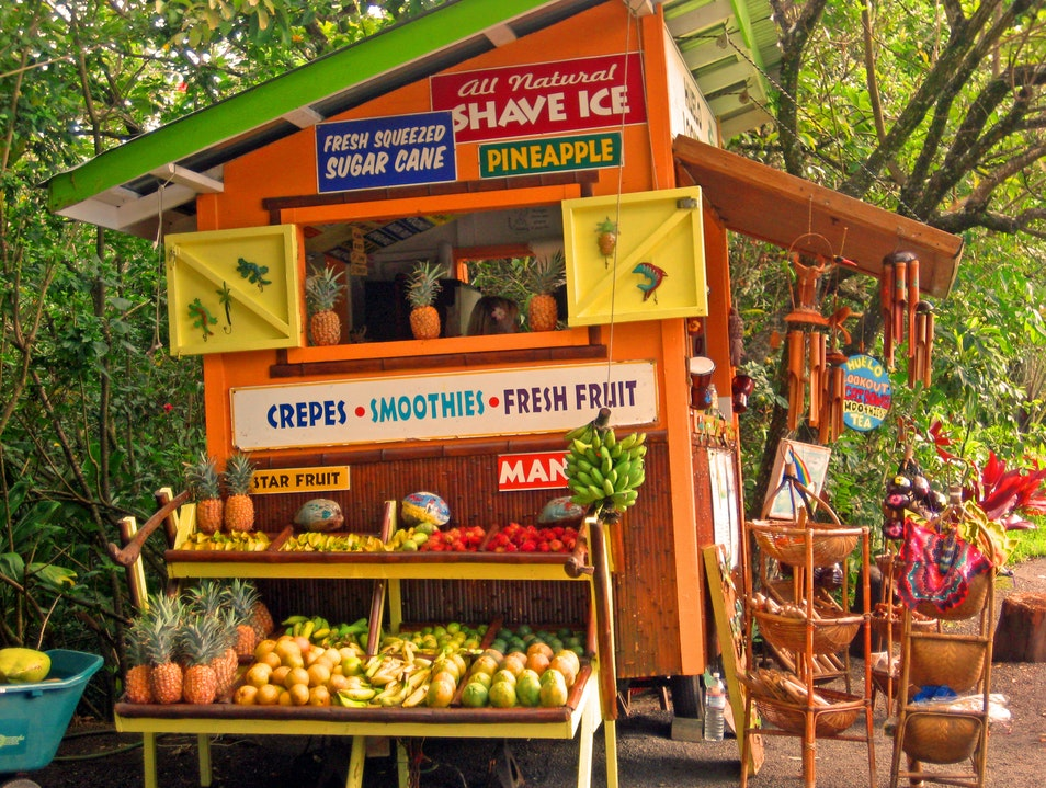 Fruit stand on the Road to Hana