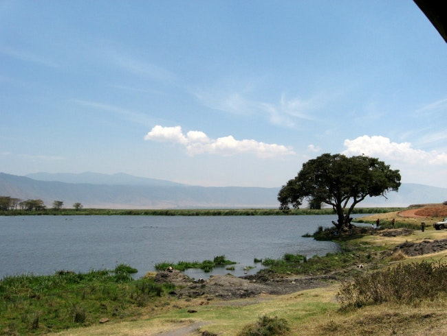 lagoon at the ngorongoro crater