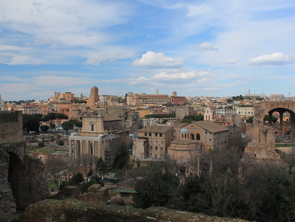 Overlooking the ruins Rome  Italy