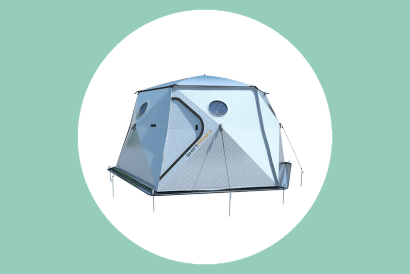 These futuristic tents will keep you comfortable in any type of weather.