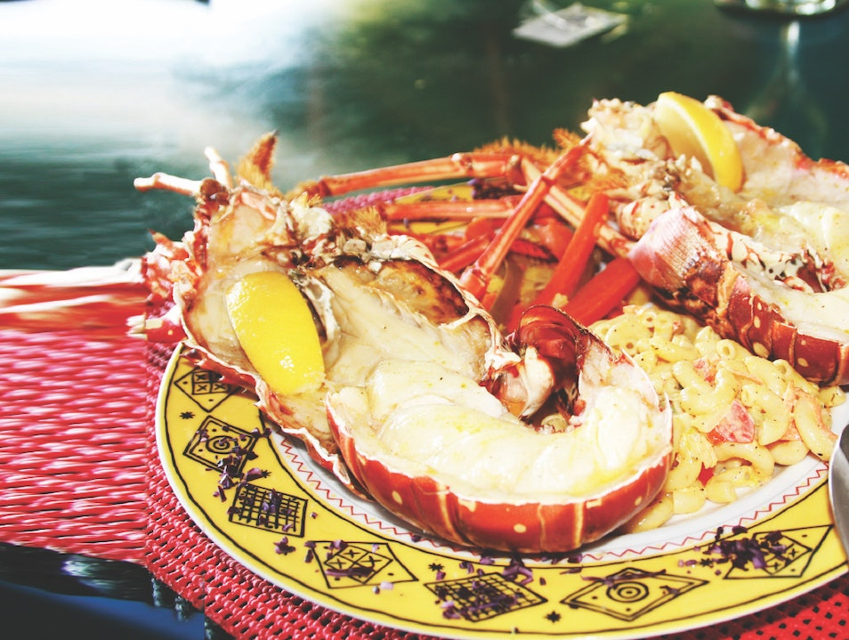 Eat Caribbean Lobster at Sidney's Peace and Love Jost Van Dyke  British Virgin Islands