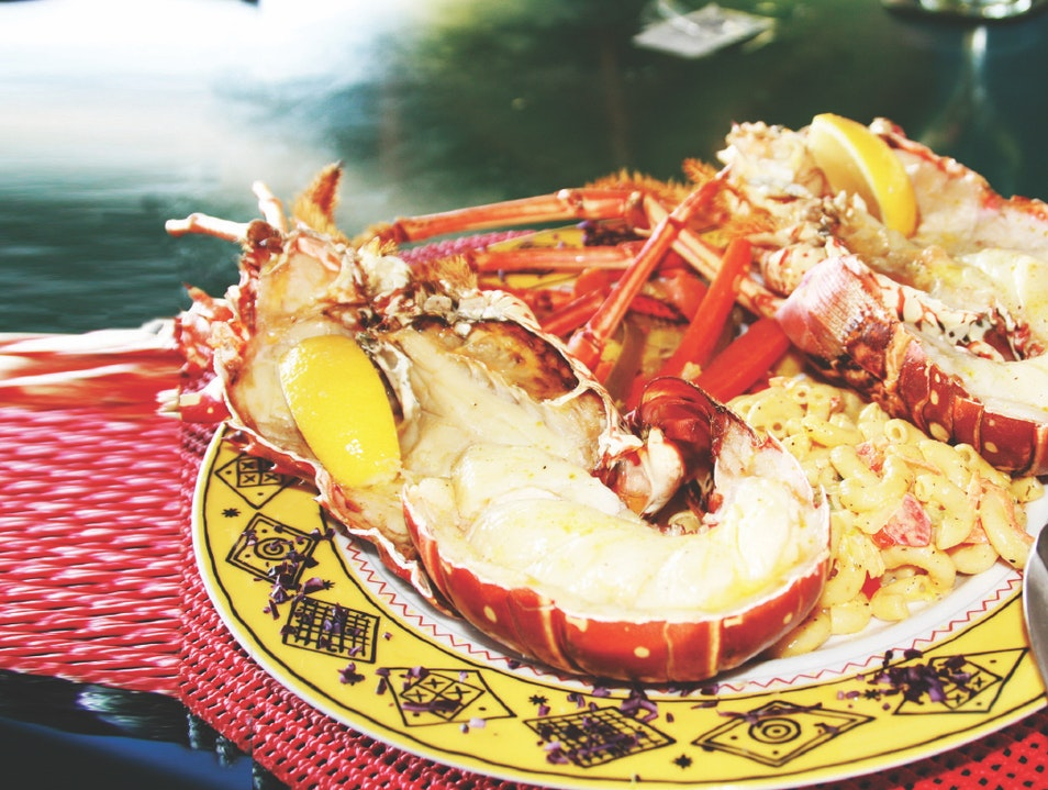 Eat Caribbean Lobster at Sidney's Peace and Love