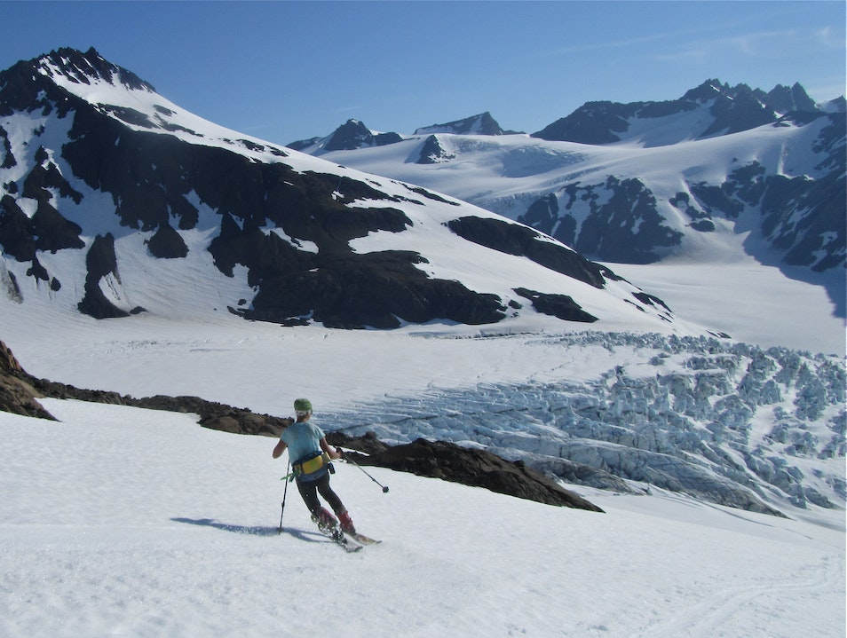 Skiing glaciers in the Kenai Mountains of Alaska Homer Alaska United States
