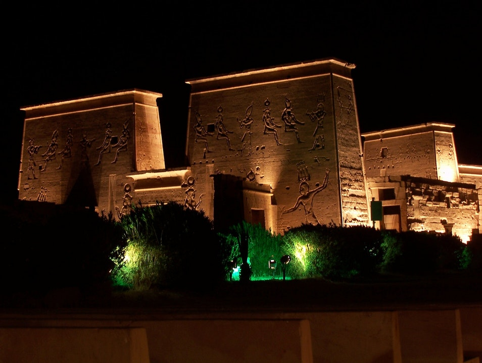 Communing with the Old Gods at Philae Sound and Light Show Aswan  Egypt