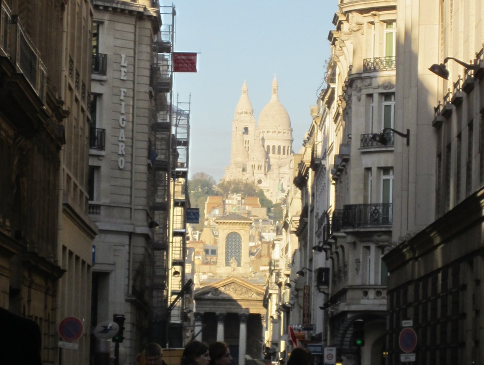 View of Sacre Coeur on our walk Paris  France