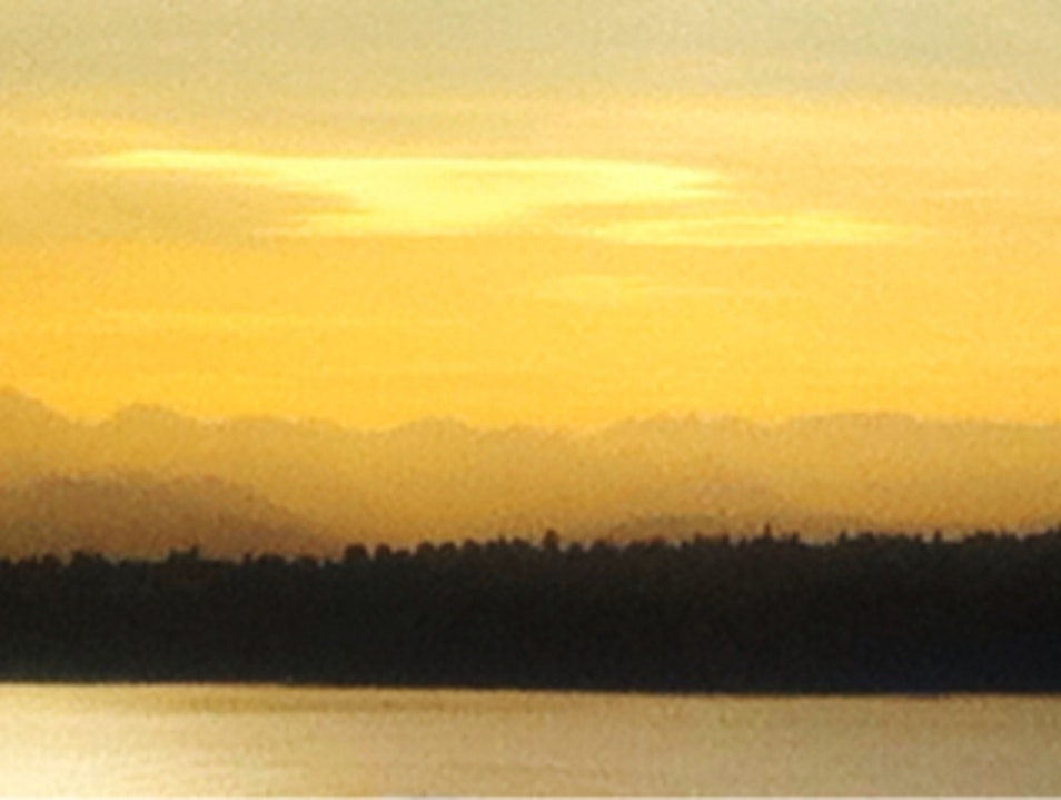 The Olympic Mts. (WA) Viewed from Carillon Point Kirkland Washington United States