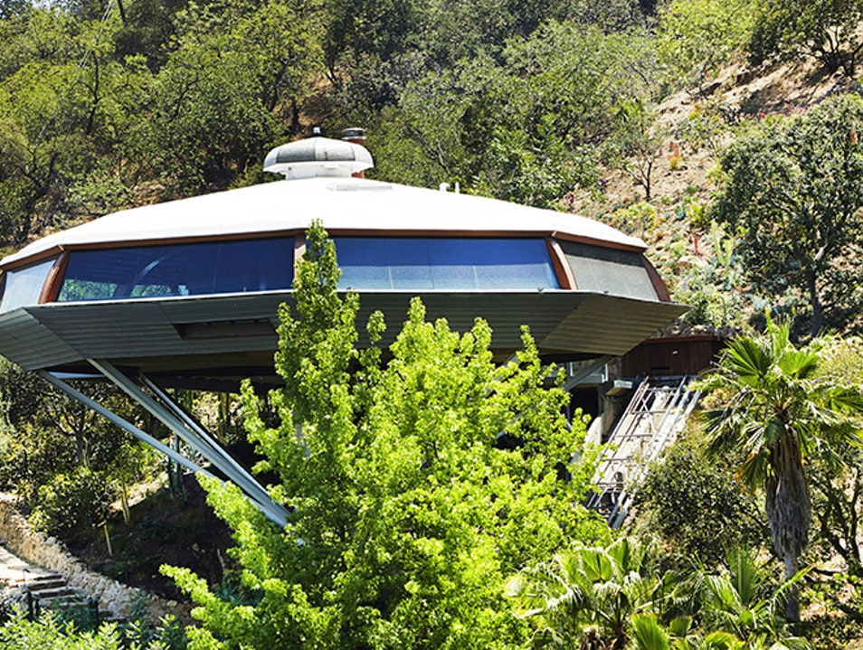 Admire Architect John Lautner's Otherworldly Chemosphere Los Angeles California United States