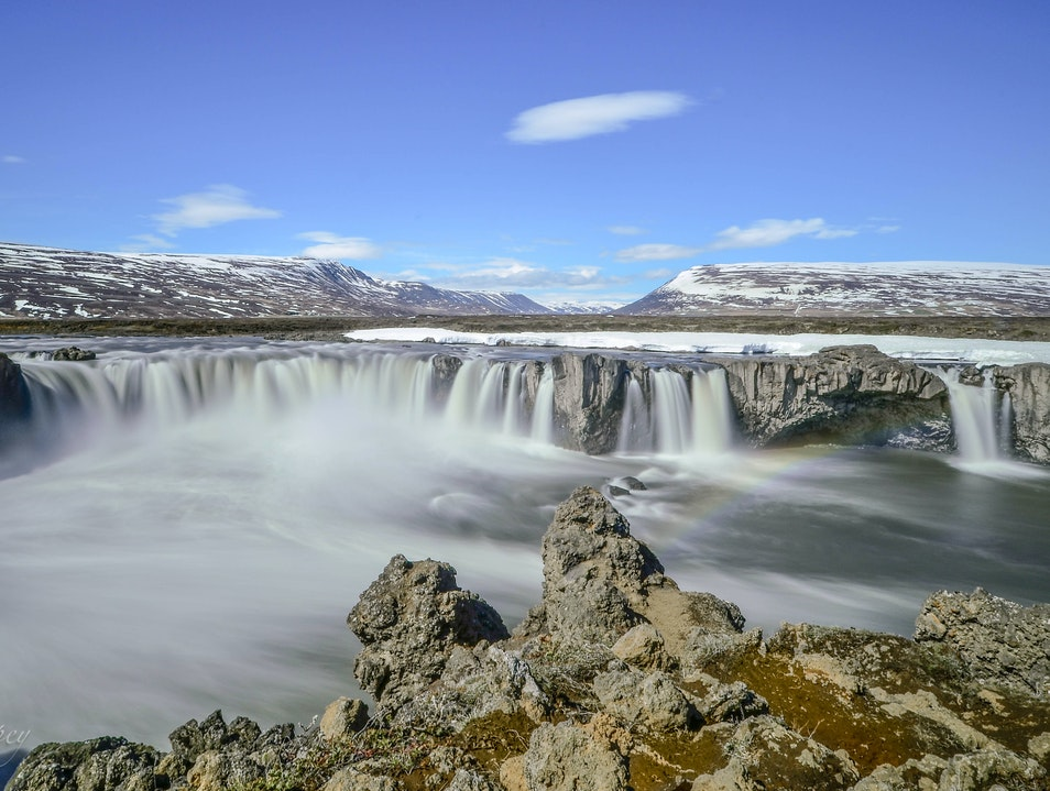Goðafoss Waterfall Grand Island  Iceland