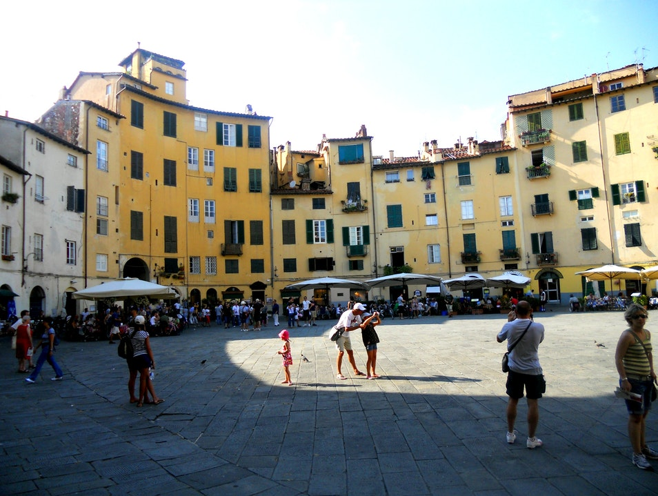Lucca, Italy main square Lucca  Italy
