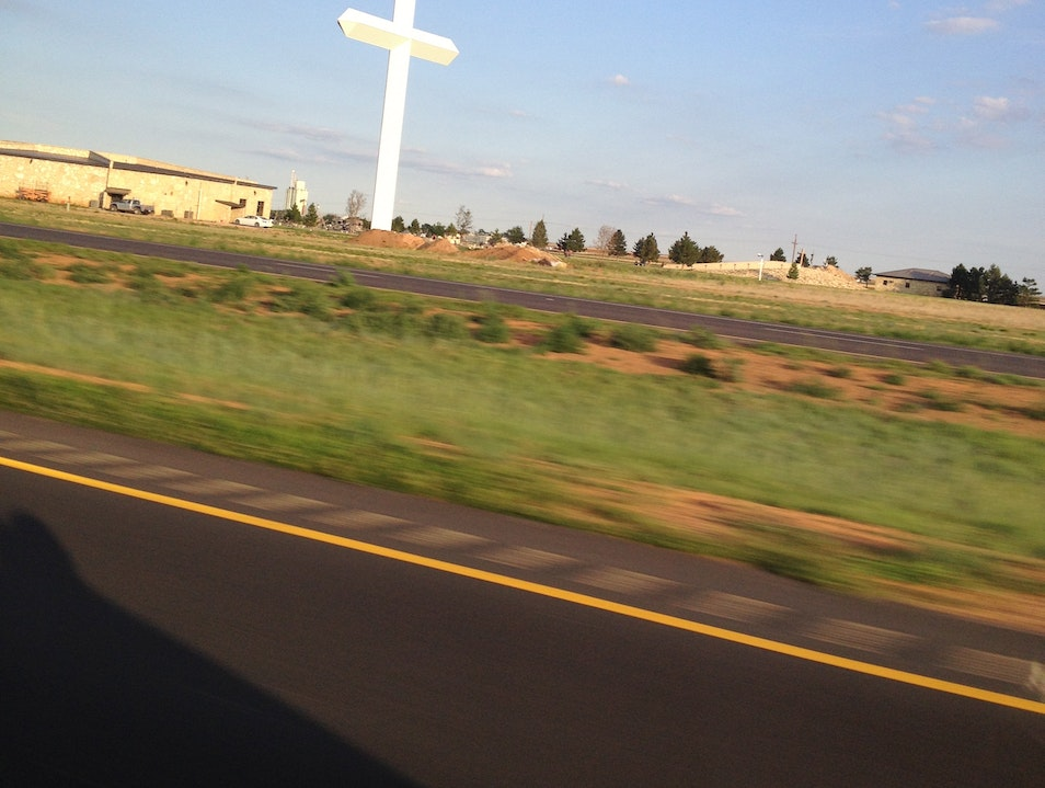 Look out for the biggest cross in the western hemisphere Groom Texas United States