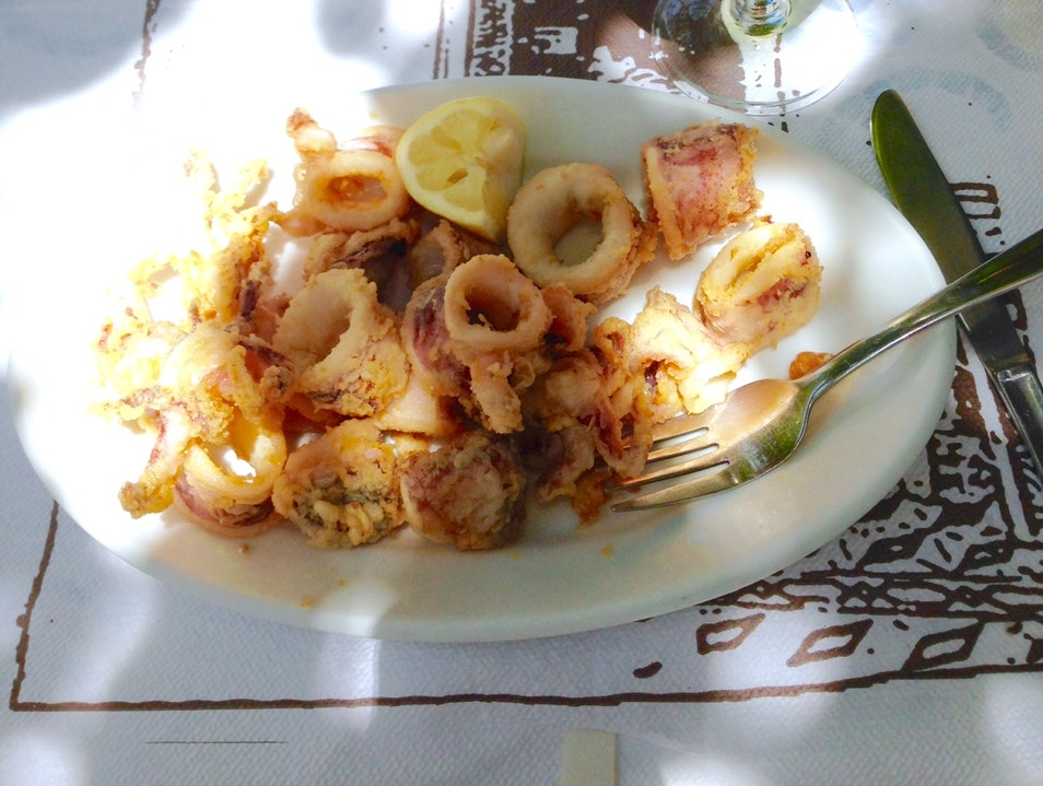 Best Calamari I've ever had in my Life Plaka  Greece