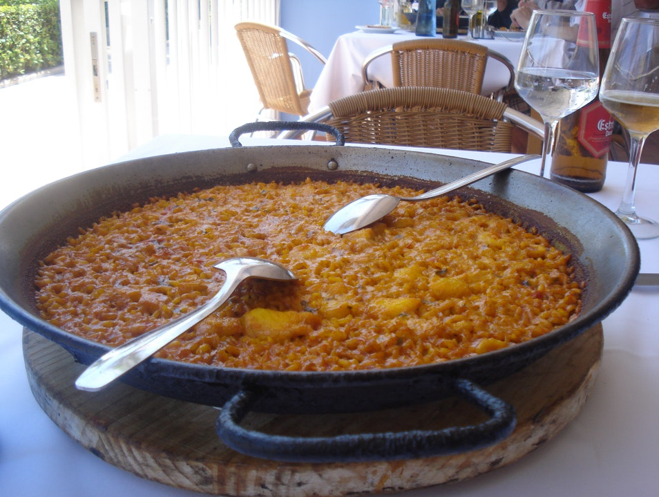 PAELLA AT LA PEPICA Valencia  Spain