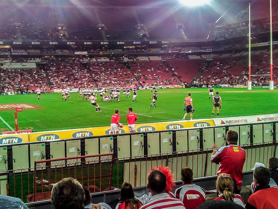 Watch the Rugby at Ellis Park Johannesburg  South Africa