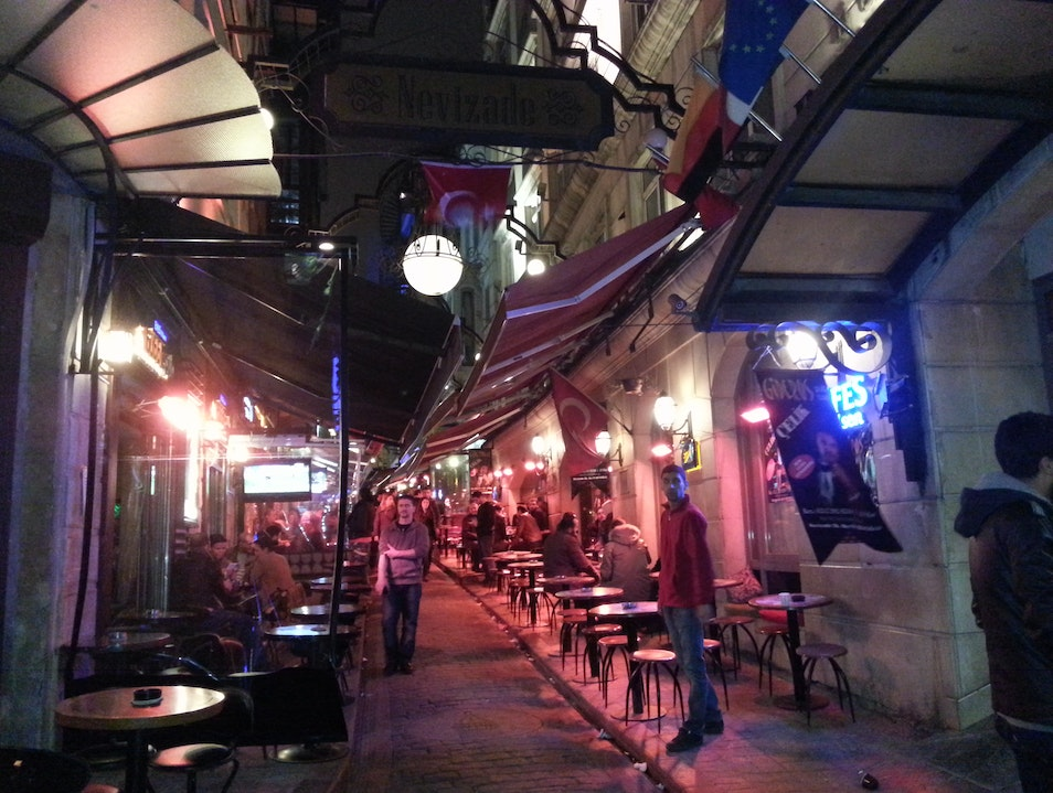 Bars on Nevizade Street Istanbul  Turkey