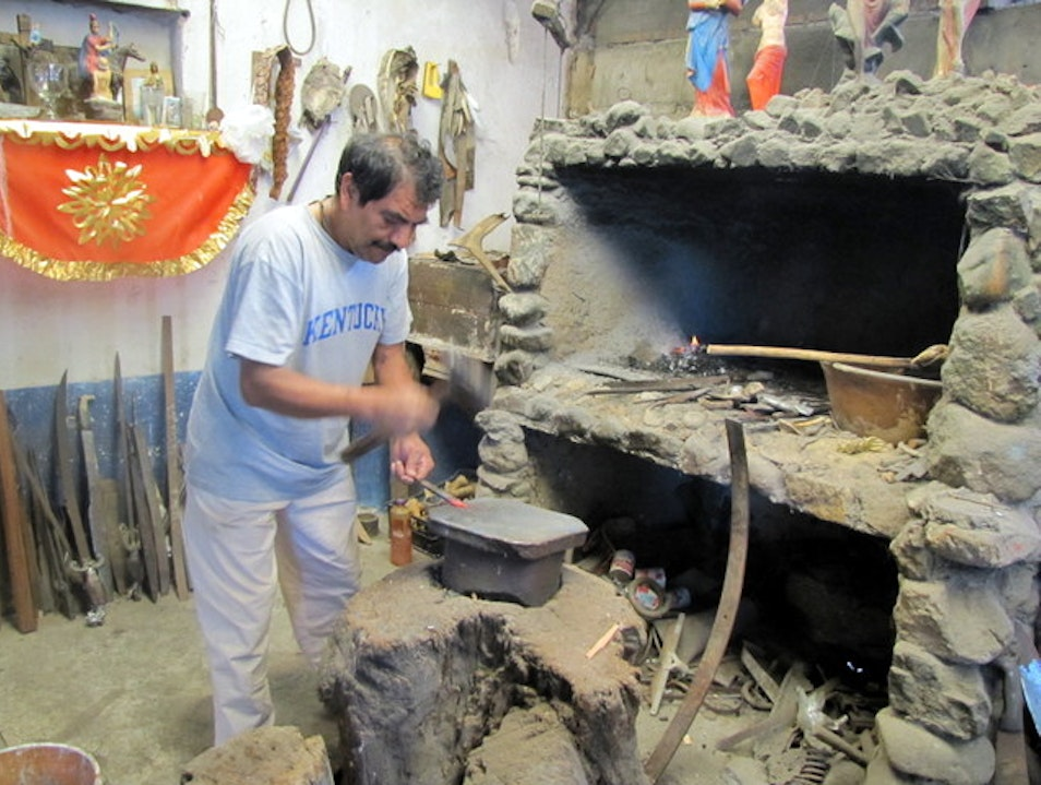 Modern-Day Blacksmith Ocotlán de Morelos  Mexico