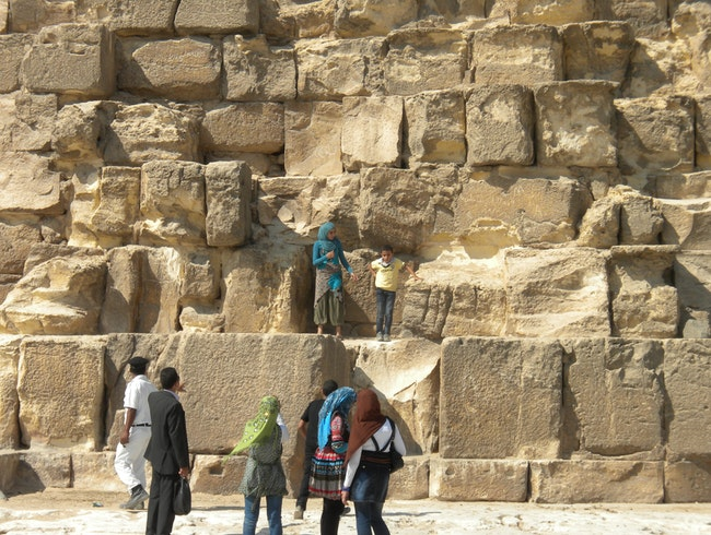 Frolicking on the pyramids