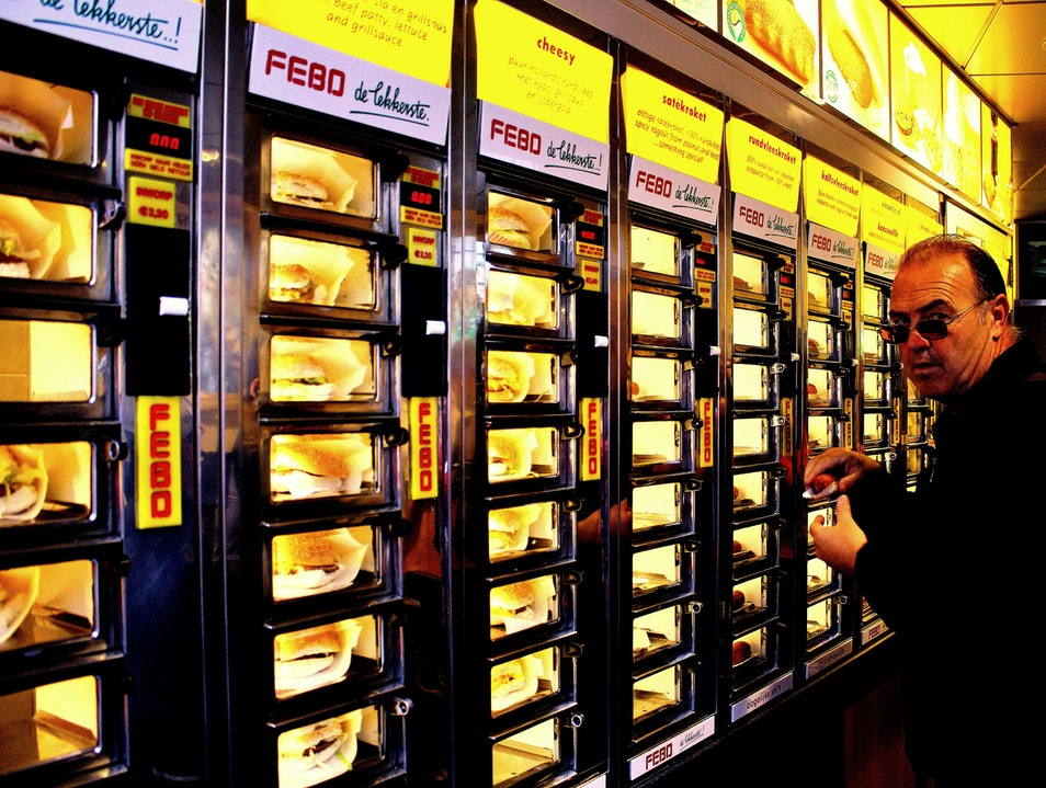 FEBO: Window Shopping for Fast-Food Burgers Amsterdam  The Netherlands