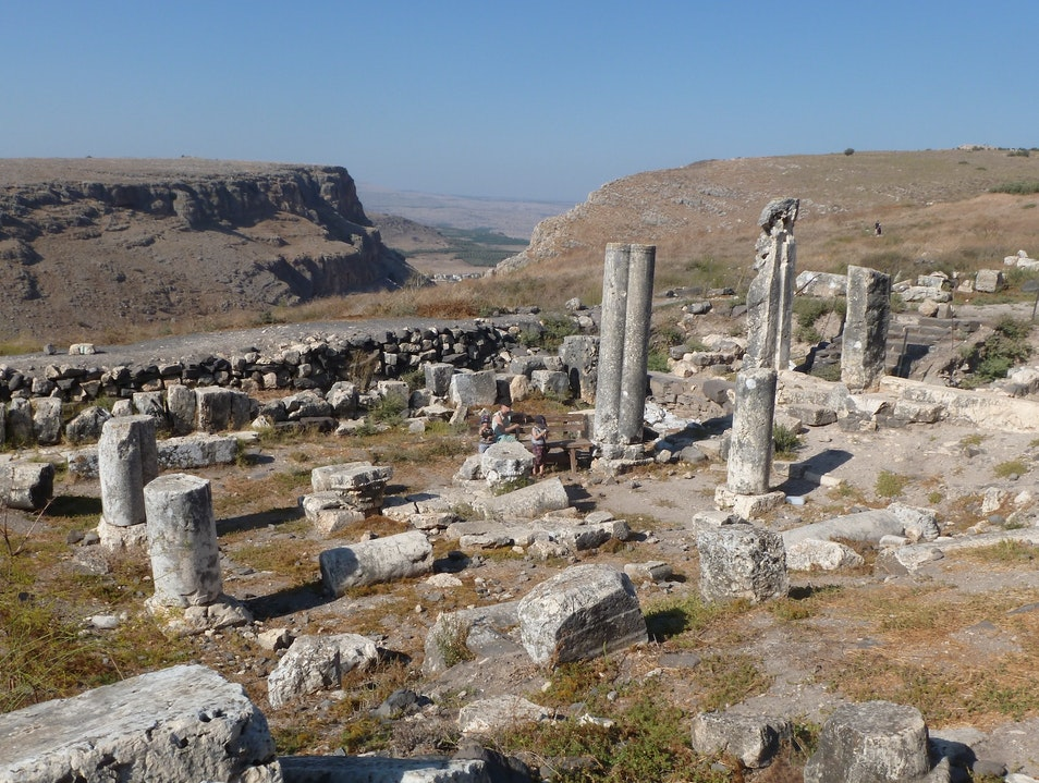 Synagogue Ruins Near the End of the World Arbel  Israel