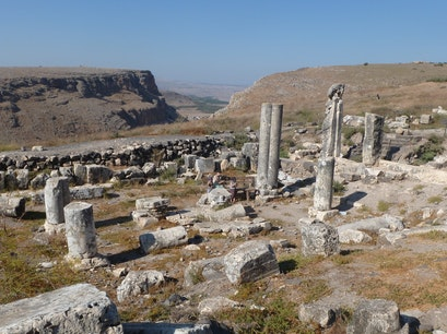 Ruins of Ancient Synagogue at Arbel Arbel  Israel