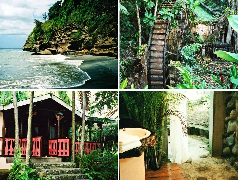 Authentic tropical R and R, plus history lessons and an outdoor bathtub Debreuil  Saint Lucia