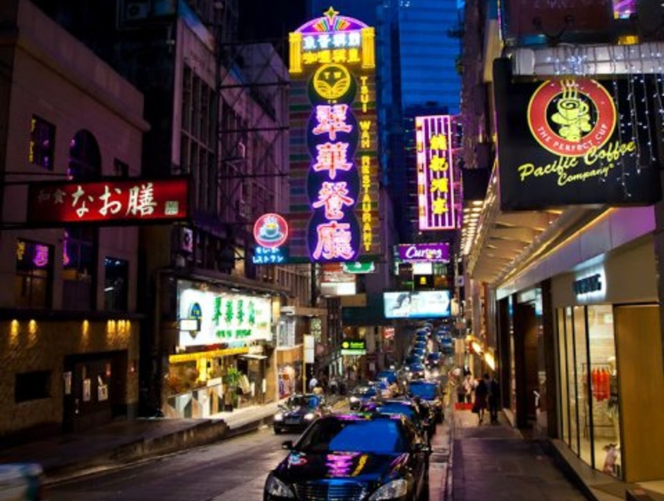 Night Life in Central Hong Kong  Hong Kong