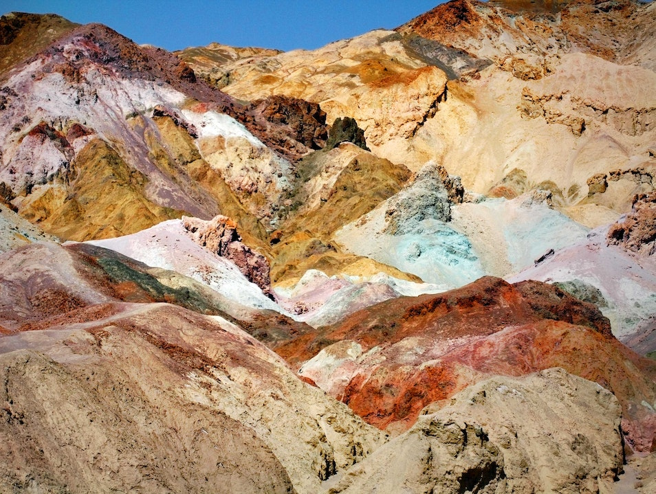 The colors are alive in Death Valley