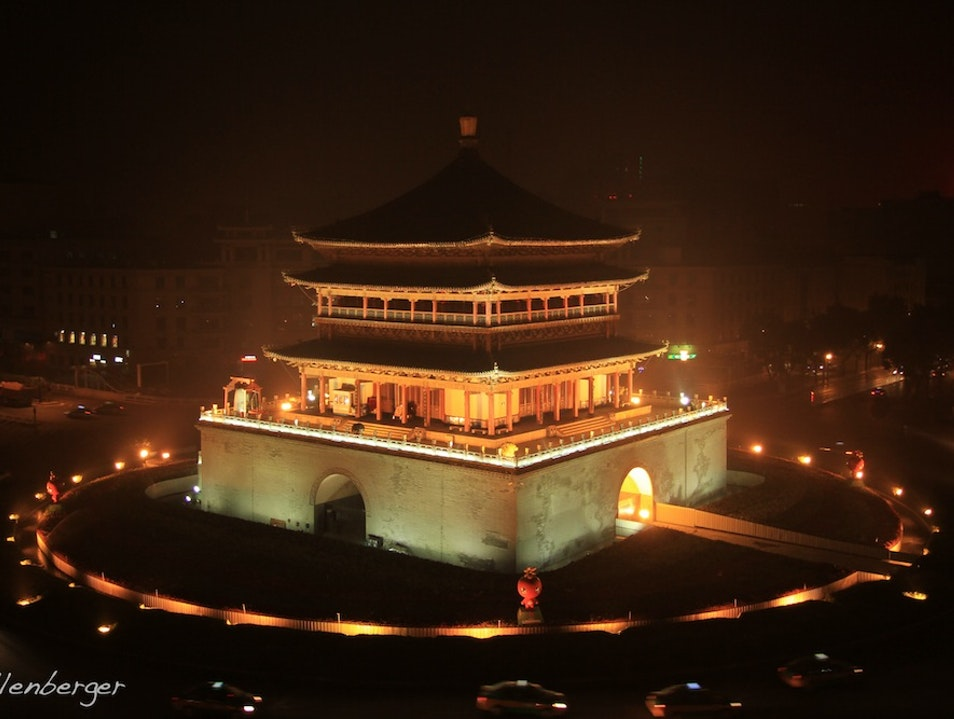 Visiting the Xi'an Bell Tower at Night