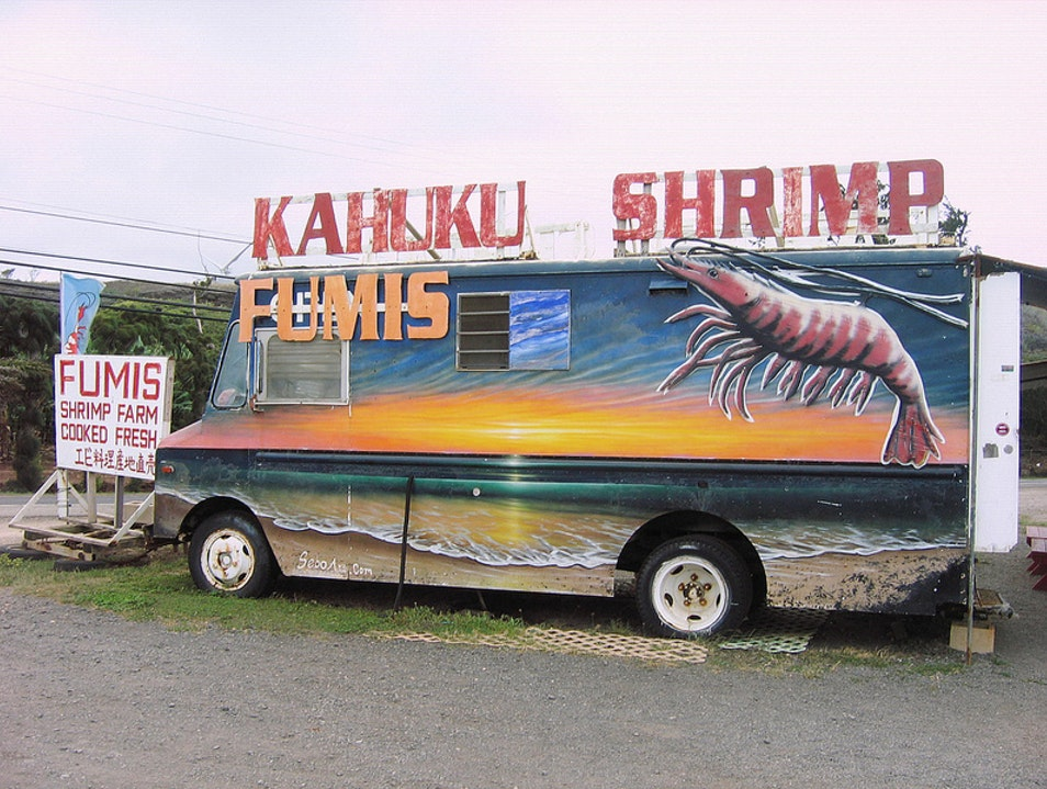Great Garlic Shrimp on the North Shore Kahuku Hawaii United States