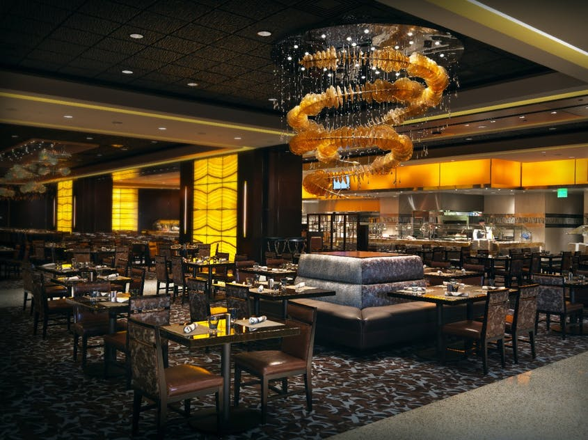 Indulge in cuisine from around the globe with a leisurely brunch at the Wicked Spoon buffet.