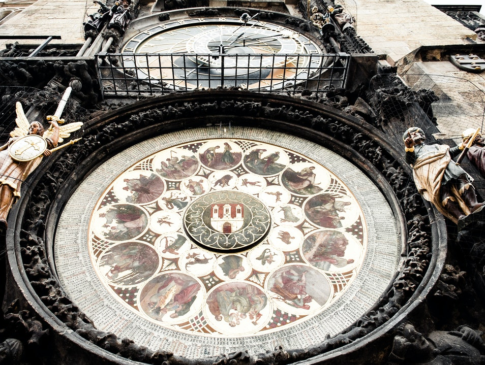 World's Oldest Working Astronomical Clock Prague  Czech Republic