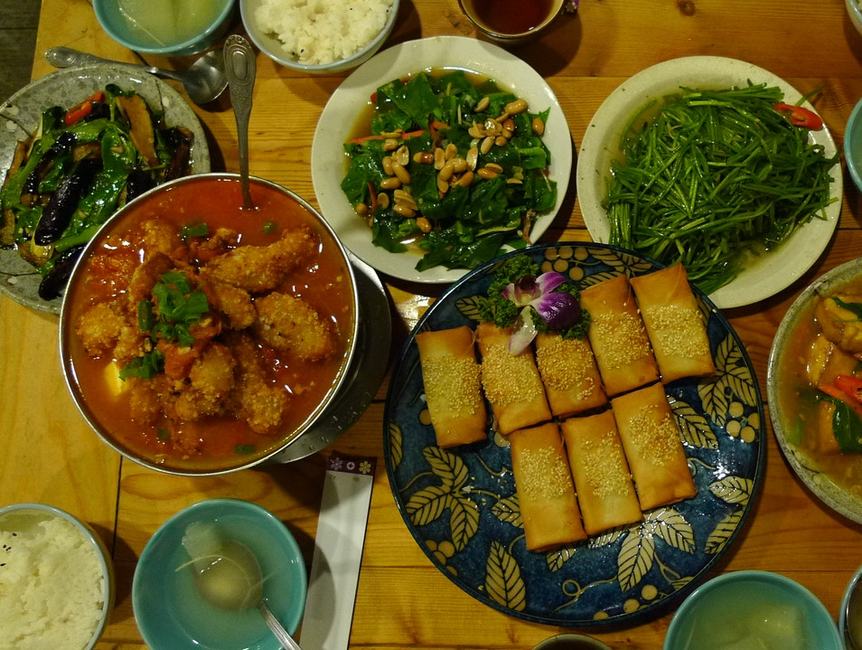 delicious hakka cuisine in a charming tea house. Zhongzheng District  Taiwan