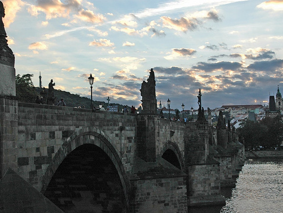 Prague's Charles Bridge Nižbor  Czechia