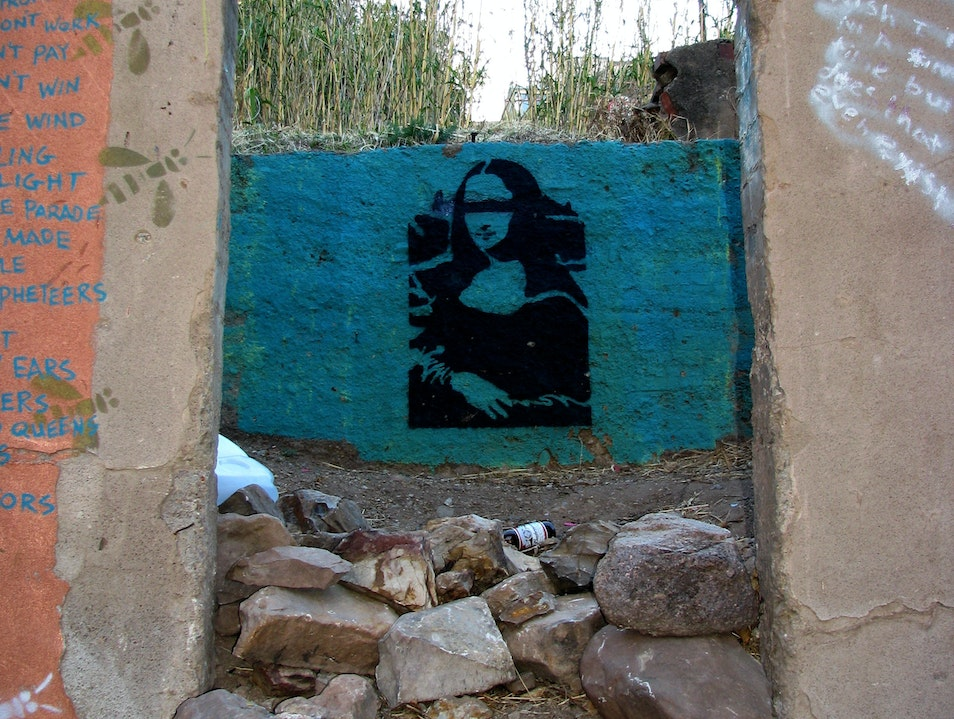 Unlikely Art: AZ Mountain Mona Bisbee Arizona United States