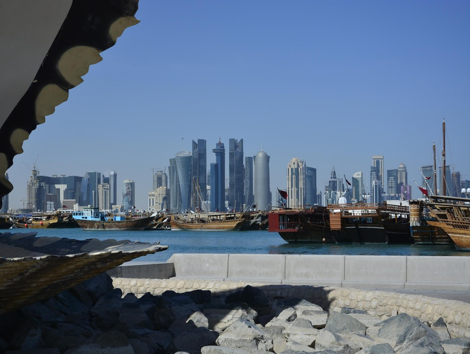 Taking in Doha's skyline Doha  Qatar