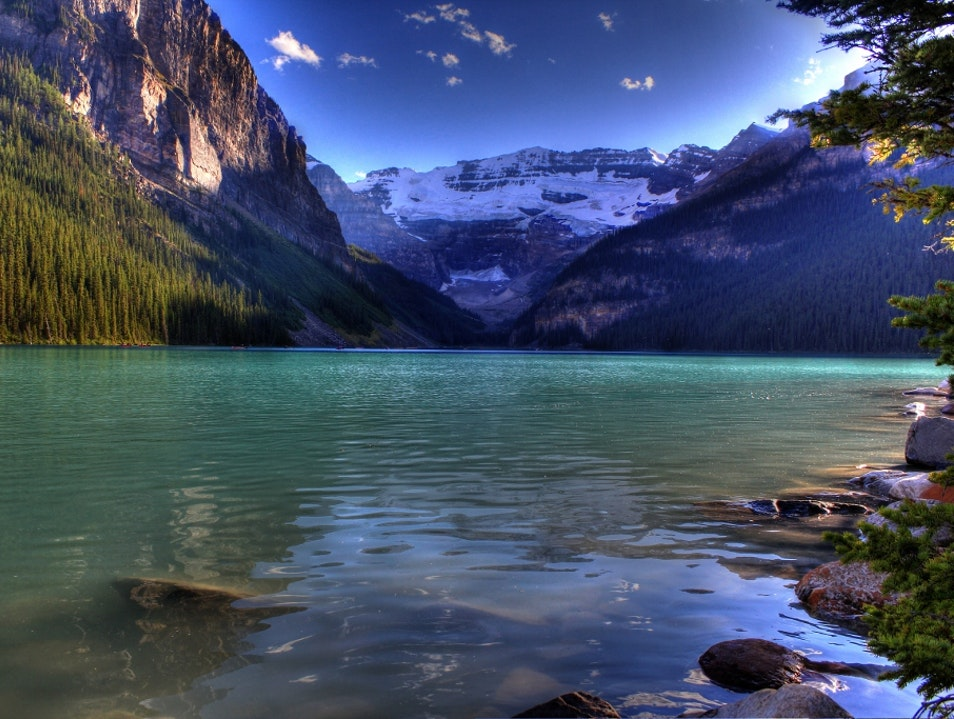 Lake Louise in the late afternoon light