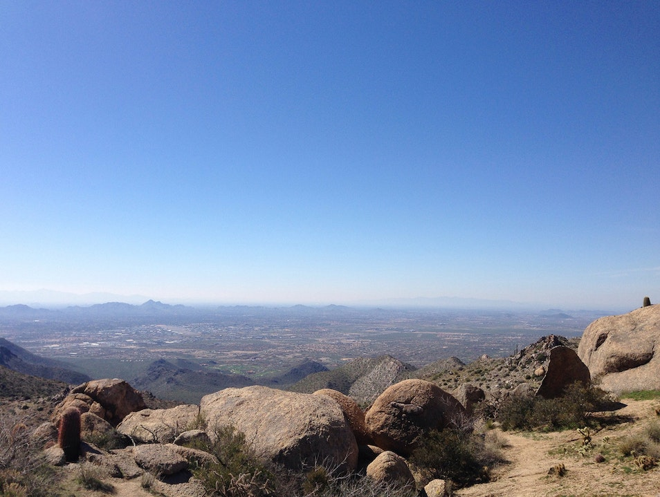 Trek to the Top of Tom's Thumb Scottsdale Arizona United States