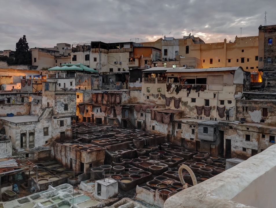 Fez Old Town Tannery Fes  Morocco