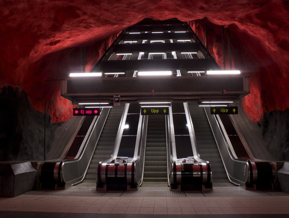 Stockholm's Escalator into the Inferno Solna  Sweden