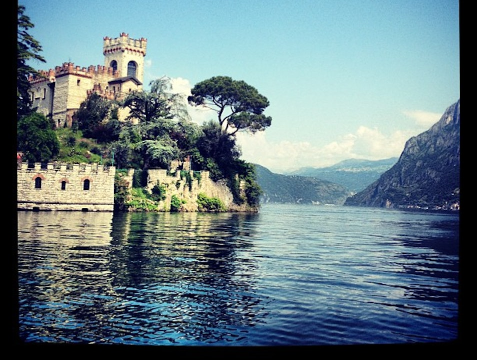 A Neo-Gothic Castle on a Private Island.  Marone  Italy