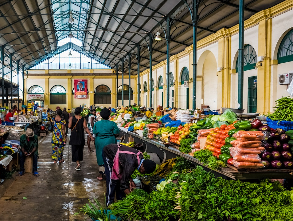 In the central market of Maputo, Mozambique Stock Photo ... |Maputo Mozambique Market