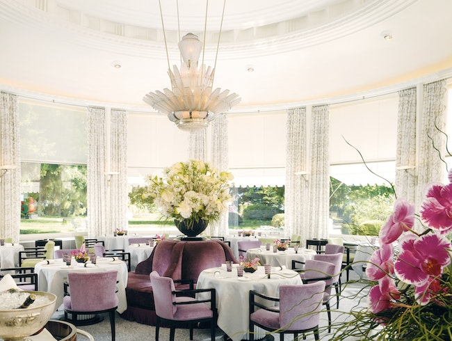 A Stunning Glass Dining Room in a Landmark Hotel