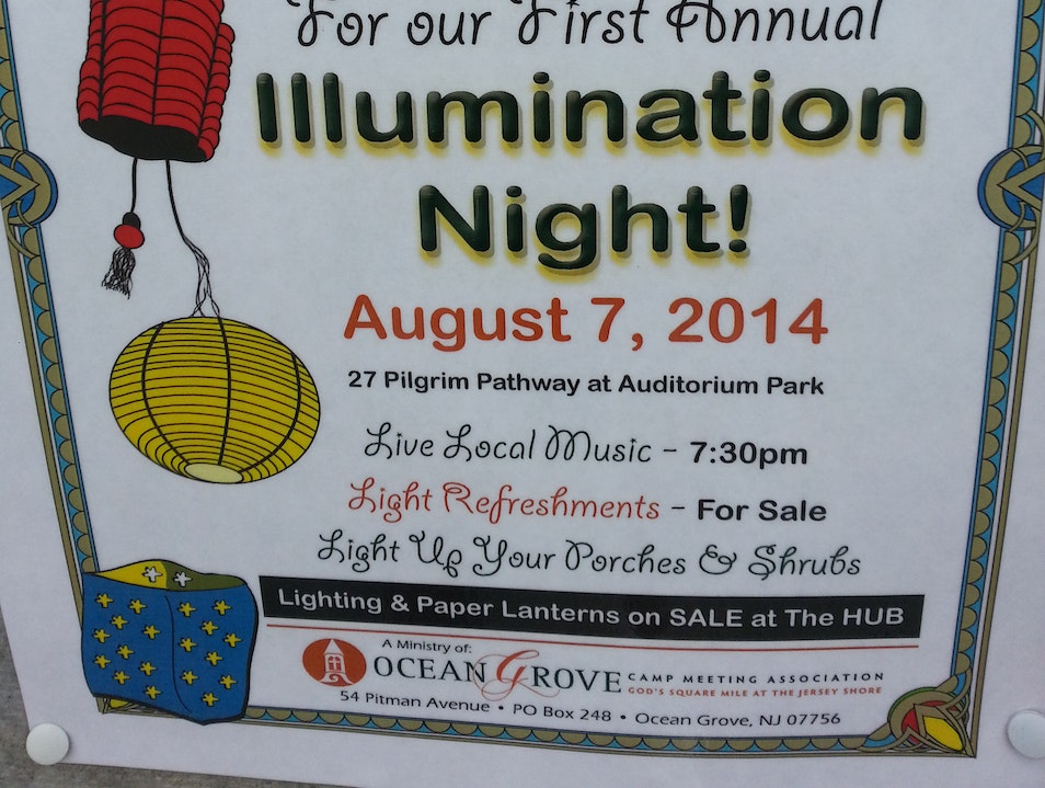 Illumination Night Returns to Ocean Grove,NJ Neptune New Jersey United States