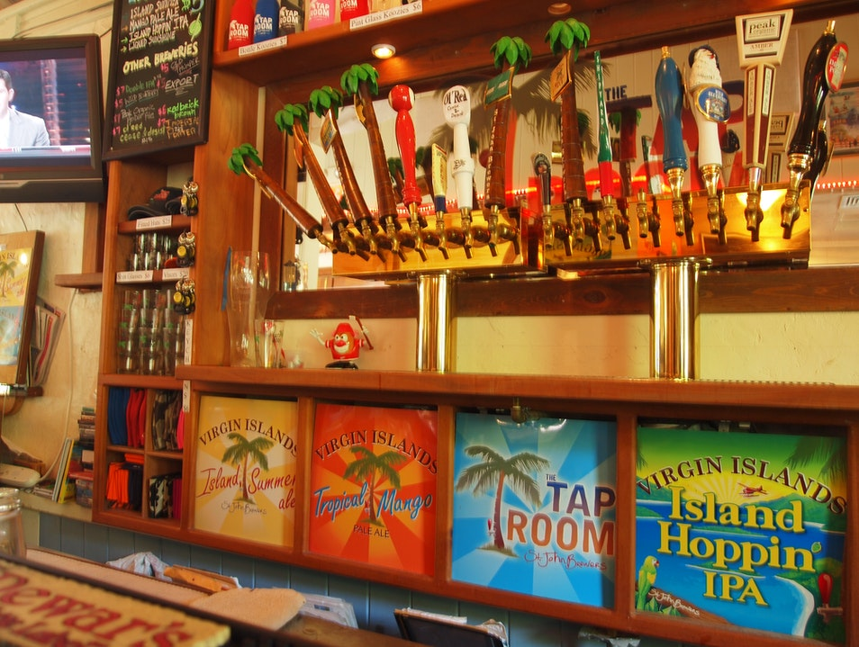 Sample Great Beers at The Tap Room, St. John St. John  United States Virgin Islands
